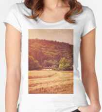 The cottage at the edge of the wood Women's Fitted Scoop T-Shirt