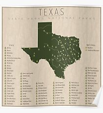 Texas Parks Poster
