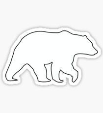 Bear Graphic- White Sticker