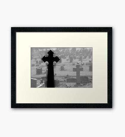 Black Cross Framed Print