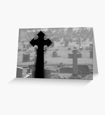 Black Cross Greeting Card