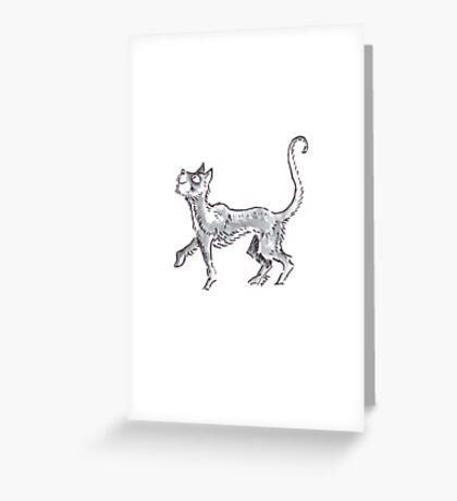 Cat on the Prowl Greeting Card