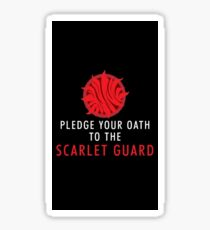 Pledge Your Oath to the Scarlet Guard Sticker
