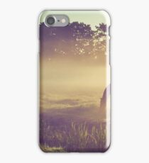 Misty Morning on the Dutch Field iPhone Case/Skin