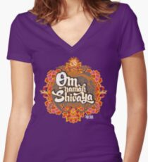 Om namah Shivaya  Women's Fitted V-Neck T-Shirt