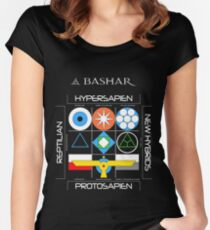Bashar: Interstellar Enneagram (Black) Women's Fitted Scoop T-Shirt