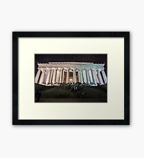 Lincoln memorial in the evening Framed Print