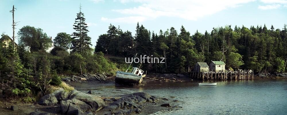 Low Tide, Jonesport, Maine by wolftinz