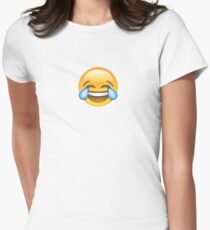 CRYING LAUGHING EMOJI Women's Fitted T-Shirt