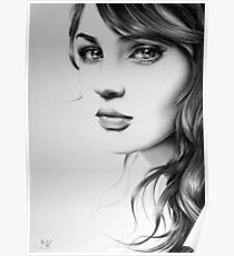 Pencil Portrait Poster