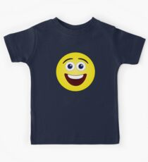 Laughing Yellow Smiley Face Kids Tee