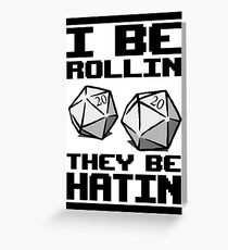 Roleplaying D20 Dice Greeting Card
