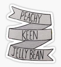 Peachy Keen Jellybean Grease Quote Sticker