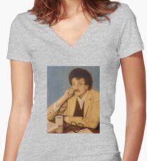 Kurt Vonnegut, Jr. Women's Fitted V-Neck T-Shirt