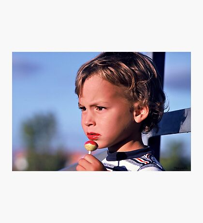 Focussed on the Baseball Game Photographic Print