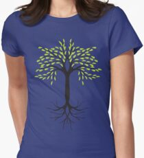 tee tree  Women's Fitted T-Shirt