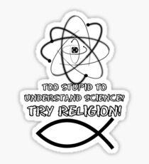 Funny atheist Sticker