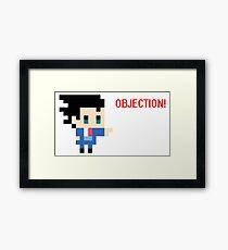 Objection 8 bits Framed Print
