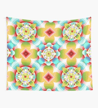 Retro Ombre Flowers (smaller version) Wall Tapestry