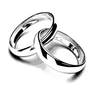 Wedding Bands. Just Married. Newlyweds. New Wife. New Bride. New Groom. New Husband. Wedding Rings. by digitaleclectic