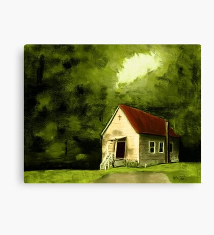 """""""Country Church 1""""... prints and products Canvas Print"""