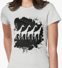 giraffe tee Womens Fitted T-Shirt