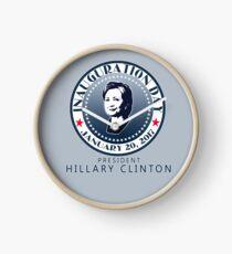 INAUGURATION DAY Seal Hillary Clock