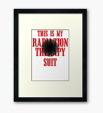 This Is My Radiation Therapy Suit Framed Print