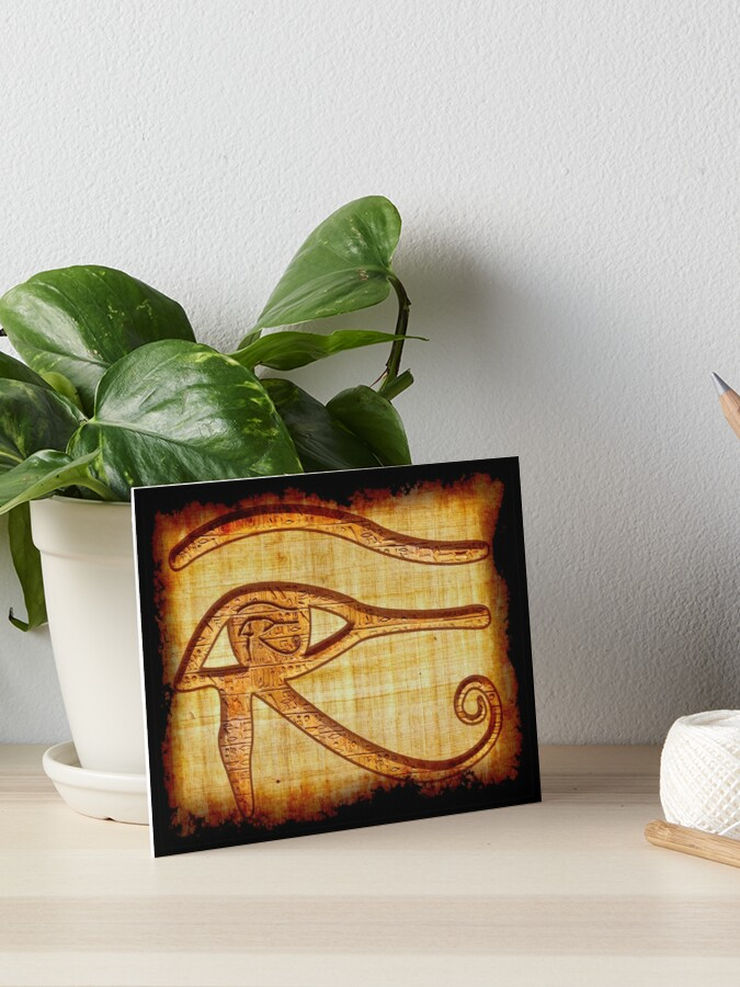 Eye of Prophecy Ancient Egyptian Papyrus Art | Art Board Print