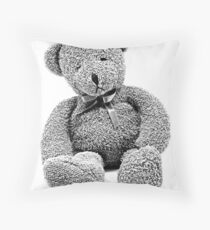 Cuddly Teddy Bear. Vintage Teddy Bear. Antique Teddy Bear. Teddy Bear Engraving. Throw Pillow