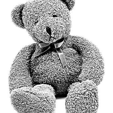 Cuddly Teddy Bear. Vintage Teddy Bear. Antique Teddy Bear. Teddy Bear Engraving. by digitaleclectic