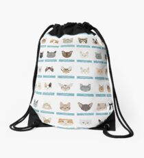 Cat Breeds Drawstring Bag