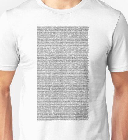 The Bee Movie Entire Script Unisex T-Shirt