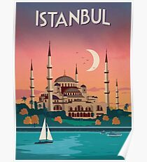 Istanbul, Turkey - Travel Poster Poster