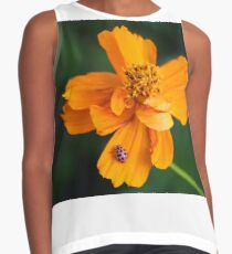 Polka Dots and Flowers Contrast Tank