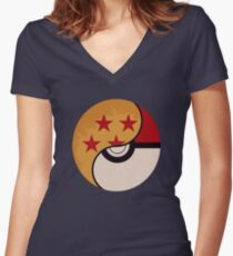 Pokemon Dragon Ball Fusion  Women's Fitted V-Neck T-Shirt