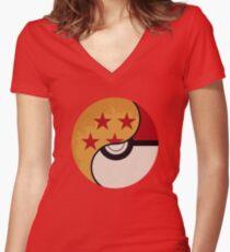 Pokemon Dragon Ball Fusion  Women's Fitted V-Neck T-Shirt