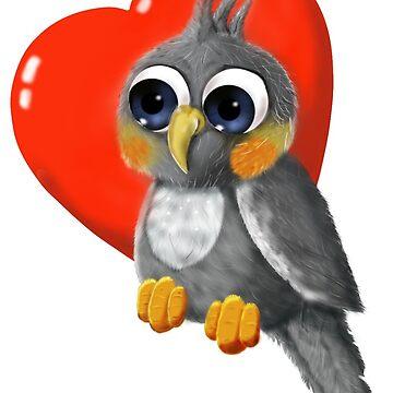 Soft Birdy, Fluffy Birdy Love - Cockatiel by dcroffe