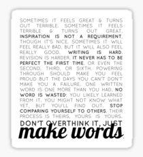 make words (writers) Sticker