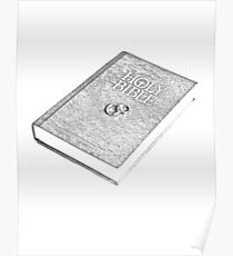 Wedding Bible With Wedding Rings Poster