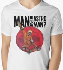 man or astroman Men's V-Neck T-Shirt