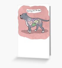 Anatomy of a Pit Bull Greeting Card