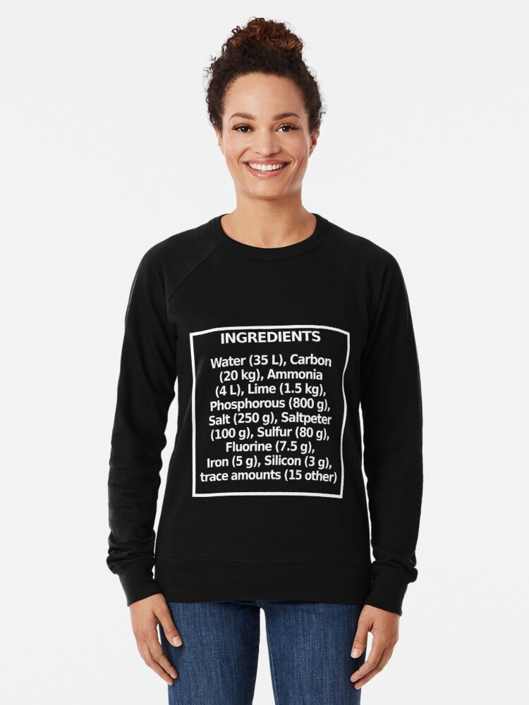 Alternate view of Ingredients (dark) Lightweight Sweatshirt