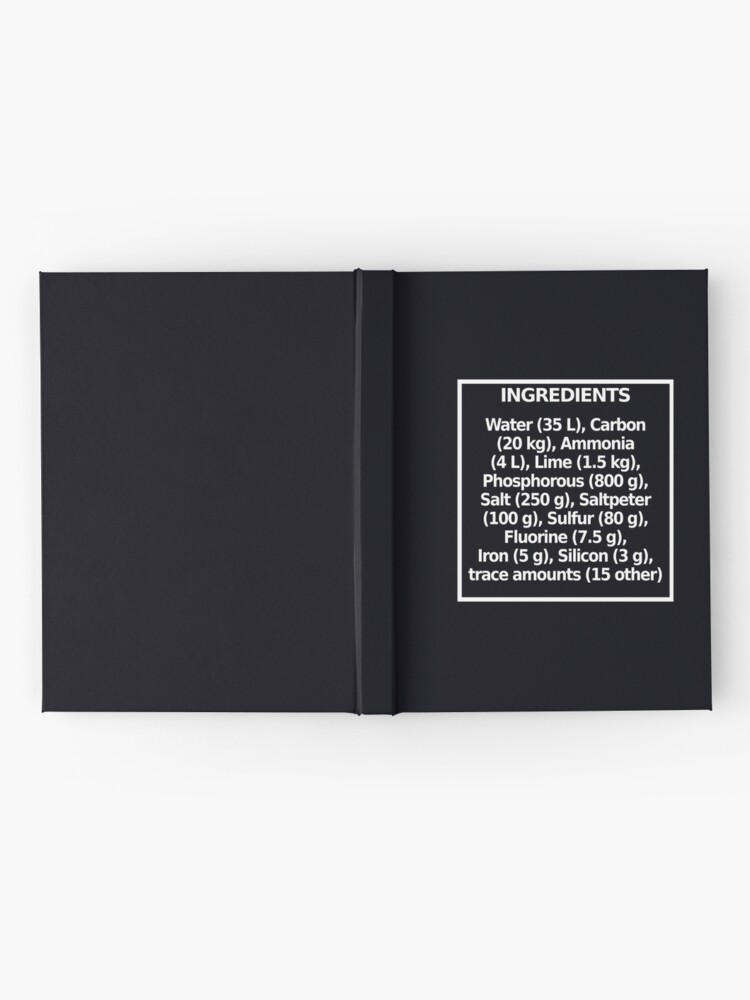 Alternate view of Ingredients (dark) Hardcover Journal