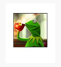 But that's none of my business Kermit Photographic Print