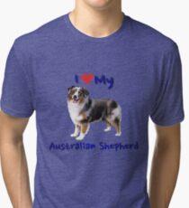 I Heart My Australian Shepherd Tri-blend T-Shirt