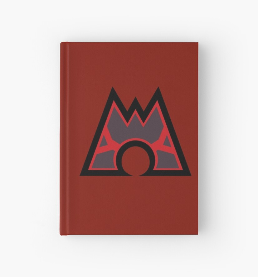 Pokmon Team Magma Symbol Hardcover Journals By Angelghosty