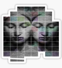 Renaissance Maiden Transparent Grid Sticker