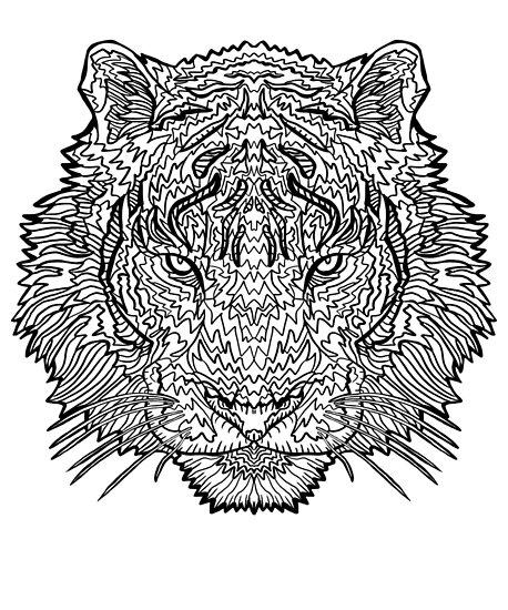 aa9e170bdf6 Tigre - Art de tatouage - Ligne noire Illustration »