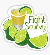 Fight Scurvy Sticker